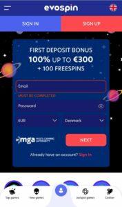 Evospin Casino Anmeldelse bonusser Spiludenomrofus.net