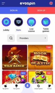 Evospin Casino Anmeldelse casinospil Spiludenomrofus.net