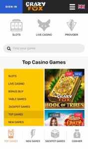 CrazyFoxCasino Anmeldelse casinospil Spiludenomrofus.net