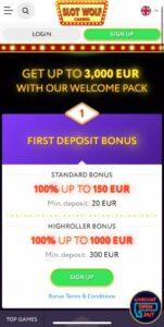Slot Wolf Casino Anmeldelse bonusser Spiludenomrofus.net